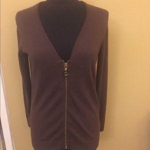 Michael Kors zip up cardigan style sweater
